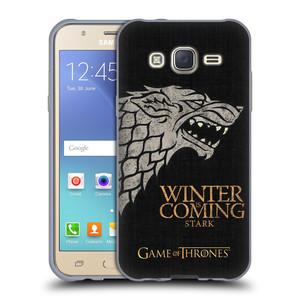 Silikonové pouzdro na mobil Samsung Galaxy J5 HEAD CASE Hra o trůny - Stark House Motto