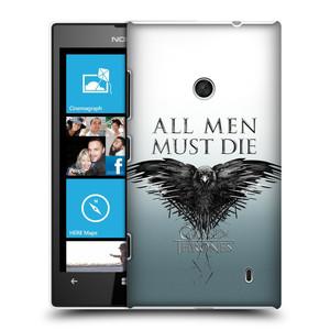 Plastové pouzdro na mobil Nokia Lumia 520 HEAD CASE Hra o trůny - All men must die