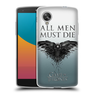 Silikonové pouzdro na mobil LG Nexus 5 HEAD CASE Hra o trůny - All men must die