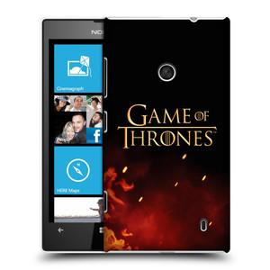 Plastové pouzdro na mobil Nokia Lumia 520 HEAD CASE Hra o trůny - Ohnivé logo