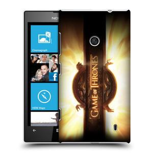 Plastové pouzdro na mobil Nokia Lumia 520 HEAD CASE Hra o trůny - Opening Sequence Logo