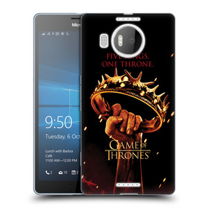 Silikonové pouzdro na mobil Microsoft Lumia 950 XL HEAD CASE Hra o trůny - Jeden trůn