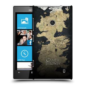 Plastové pouzdro na mobil Nokia Lumia 520 HEAD CASE Hra o trůny - Mapa západozemí