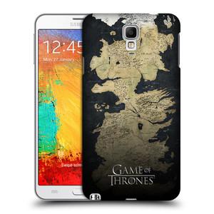 Plastové pouzdro na mobil Samsung Galaxy Note 3 Neo HEAD CASE Hra o trůny - Mapa západozemí