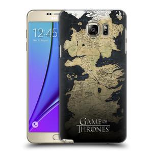 Plastové pouzdro na mobil Samsung Galaxy Note 5 HEAD CASE Hra o trůny - Mapa západozemí