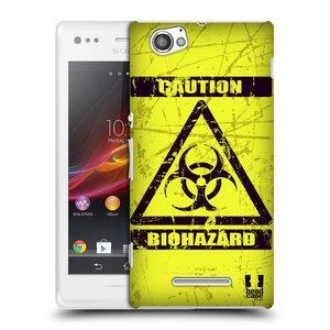 Plastové pouzdro na mobil Sony Xperia M C1905 HEAD CASE BIOHAZARD