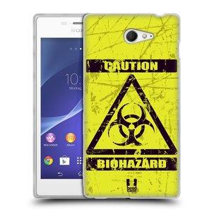 Silikonové pouzdro na mobil Sony Xperia M2 D2303 HEAD CASE BIOHAZARD