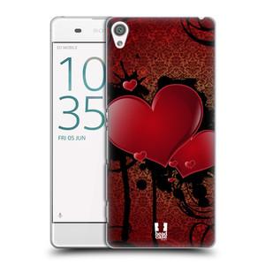 Plastové pouzdro na mobil Sony Xperia XA HEAD CASE SRDÍČKA GRUNGE