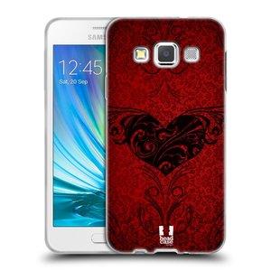 Silikonové pouzdro na mobil Samsung Galaxy A3 HEAD CASE SRDÍČKA POISON