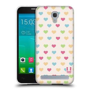Silikonové pouzdro na mobil Alcatel One Touch Idol 2 Mini S 6036Y HEAD CASE SRDÍČKA BAREVNÁ