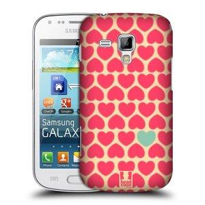 Plastové pouzdro na mobil Samsung Galaxy S Duos HEAD CASE SRDÍČKA RŮŽOVÁ