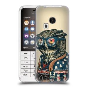 Silikonové pouzdro na mobil Nokia 220 HEAD CASE HIPSTR SVETR SOVA