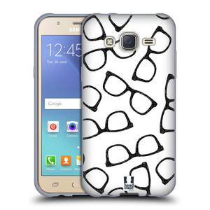 Silikonové pouzdro na mobil Samsung Galaxy J5 HEAD CASE HIPSTER BRÝLE