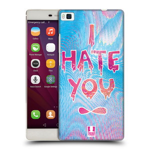 Plastové pouzdro na mobil Huawei P8 HEAD CASE HOLOGRAF HATE YOU