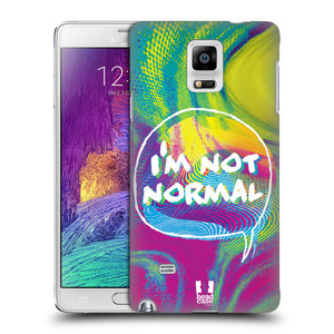 Plastové pouzdro na mobil Samsung Galaxy Note 4 HEAD CASE HOLOGRAF I'M NOT NORMAL