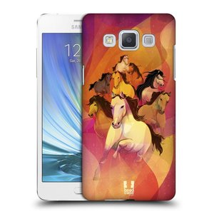 Plastové pouzdro na mobil Samsung Galaxy A5 HEAD CASE OSM KONÍKŮ
