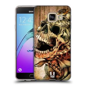 Silikonové pouzdro na mobil Samsung Galaxy A3 (2016) HEAD CASE PIRANHA