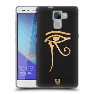 Silikonové pouzdro na mobil Honor 7 HEAD CASE EGYPT OKO BOHA RA