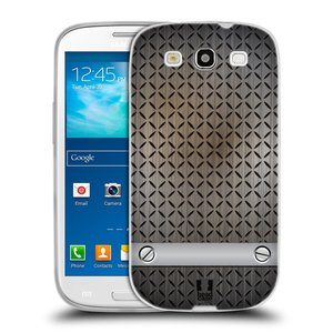 Silikonové pouzdro na mobil Samsung Galaxy S III HEAD CASE INDUSTRIAL STEEL