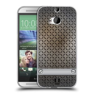Silikonové pouzdro na mobil HTC ONE M8 HEAD CASE INDUSTRIAL STEEL