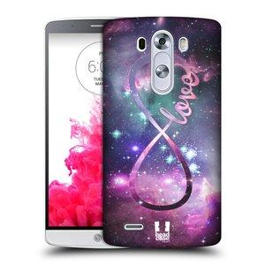 Plastové pouzdro na mobil LG G3 HEAD CASE NEKONEČNÁ LÁSKA