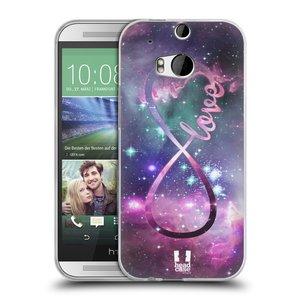 Silikonové pouzdro na mobil HTC ONE M8 HEAD CASE NEKONEČNÁ LÁSKA