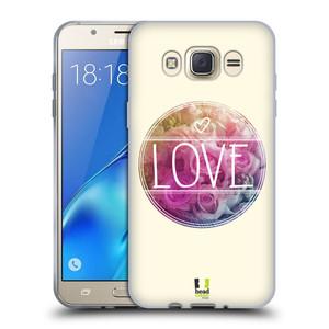 Silikonové pouzdro na mobil Samsung Galaxy J7 (2016) HEAD CASE INSPIRACE V KRUHU LÁSKA