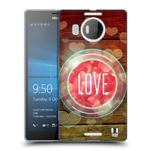 Silikonové pouzdro na mobil Microsoft Lumia 950 XL HEAD CASE SKLENICE LOVE