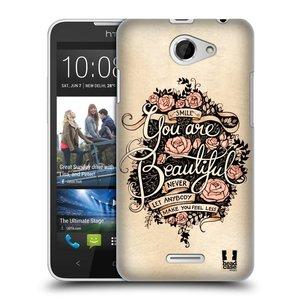 Plastové pouzdro na mobil HTC Desire 516 HEAD CASE BEAUTIFUL