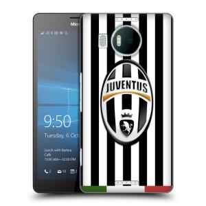 Plastové pouzdro na mobil Microsoft Lumia 950 XL HEAD CASE Juventus FC - Italian Stripes