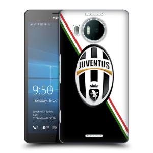 Plastové pouzdro na mobil Microsoft Lumia 950 XL HEAD CASE Juventus FC - Black and White