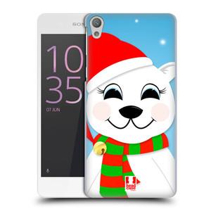 Plastové pouzdro na mobil Sony Xperia E5 HEAD CASE VÁNOCE POLÁRNÍ MÉĎA