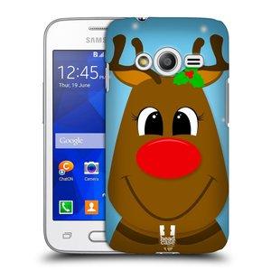 Plastové pouzdro na mobil Samsung Galaxy Trend 2 Lite HEAD CASE VÁNOCE RUDOLF SOB