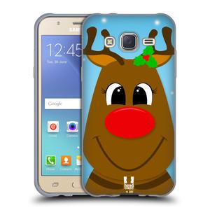 Silikonové pouzdro na mobil Samsung Galaxy J5 HEAD CASE VÁNOCE RUDOLF SOB