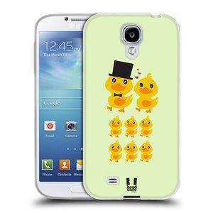 Silikonové pouzdro na mobil Samsung Galaxy S4 HEAD CASE KACHNÍ RODINKA