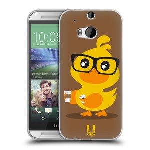 Silikonové pouzdro na mobil HTC ONE M8 HEAD CASE KACHNIČKA HIPSTERKA