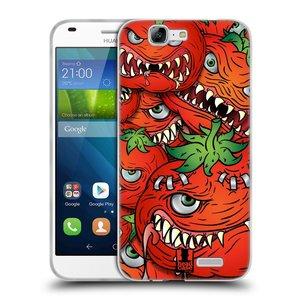 Silikonové pouzdro na mobil Huawei Ascend G7 HEAD CASE Rajčátka