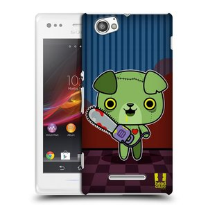 Plastové pouzdro na mobil Sony Xperia M C1905 HEAD CASE ZOMBIE ŠTĚNĚ