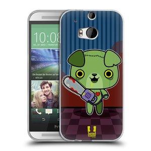 Silikonové pouzdro na mobil HTC ONE M8 HEAD CASE ZOMBIE ŠTĚNĚ