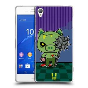 Silikonové pouzdro na mobil Sony Xperia Z3 D6603 HEAD CASE ZOMBIE PAŠÍK