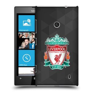 Plastové pouzdro na mobil Nokia Lumia 520 HEAD CASE ZNAK LIVERPOOL FC OFFICIAL GEOMETRIC BLACK