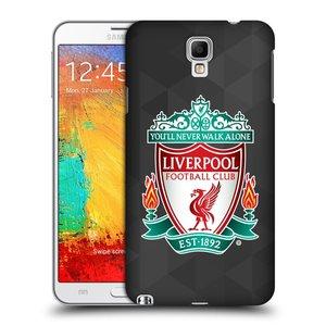 Plastové pouzdro na mobil Samsung Galaxy Note 3 Neo HEAD CASE ZNAK LIVERPOOL FC OFFICIAL GEOMETRIC BLACK