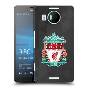 Plastové pouzdro na mobil Microsoft Lumia 950 XL HEAD CASE ZNAK LIVERPOOL FC OFFICIAL GEOMETRIC BLACK