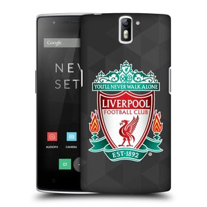 Plastové pouzdro na mobil OnePlus One HEAD CASE ZNAK LIVERPOOL FC OFFICIAL GEOMETRIC BLACK