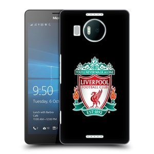 Plastové pouzdro na mobil Microsoft Lumia 950 XL HEAD CASE ZNAK LIVERPOOL FC OFFICIAL BLACK