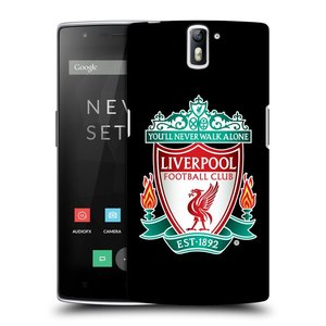 Plastové pouzdro na mobil OnePlus One HEAD CASE ZNAK LIVERPOOL FC OFFICIAL BLACK