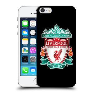 Plastové pouzdro na mobil Apple iPhone SE, 5 a 5S HEAD CASE ZNAK LIVERPOOL FC OFFICIAL BLACK