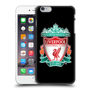 Plastové pouzdro na mobil Apple iPhone 6 Plus HEAD CASE ZNAK LIVERPOOL FC OFFICIAL BLACK