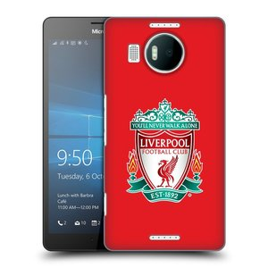 Plastové pouzdro na mobil Microsoft Lumia 950 XL HEAD CASE ZNAK LIVERPOOL FC OFFICIAL RED