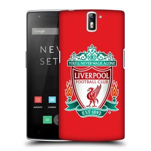 Plastové pouzdro na mobil OnePlus One HEAD CASE ZNAK LIVERPOOL FC OFFICIAL RED